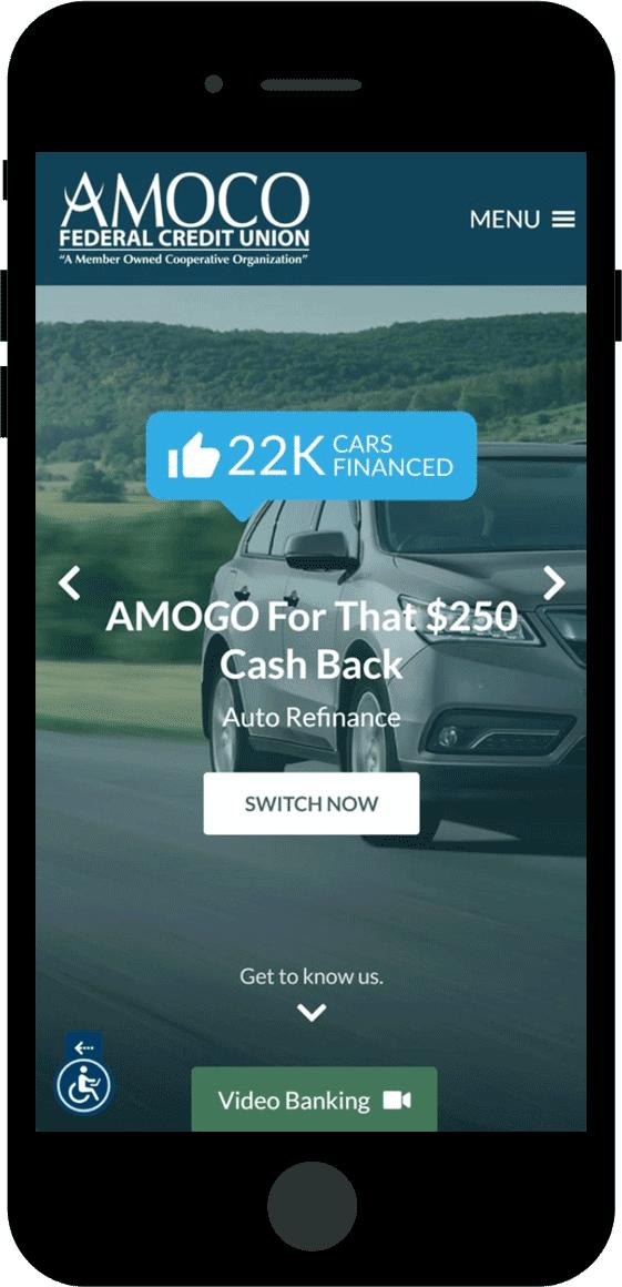 AMOCO FCU Responsive Site Example