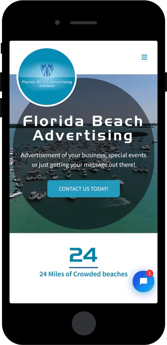 Florida Beach Advertising - Website Portfolio